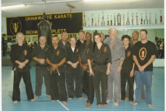Sensei with black belts